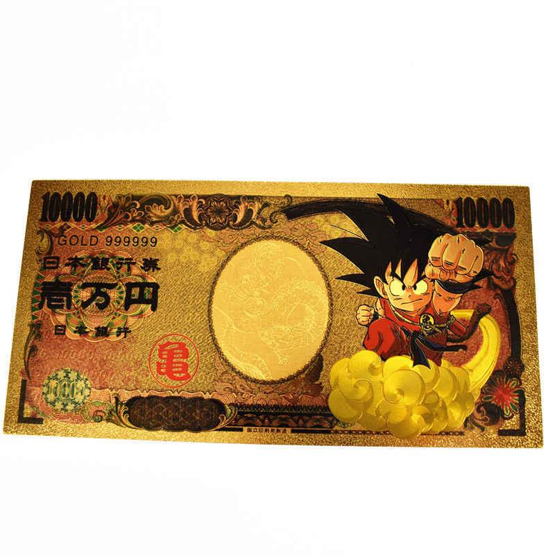 Goku Dragon Ball Z Gold Money Card