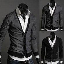 Zogaa мужской кардиган свитера модный шерстяной свитер трикотажная мужская верхняя одежда с v-образным вырезом брендовая одежда с одной грудью