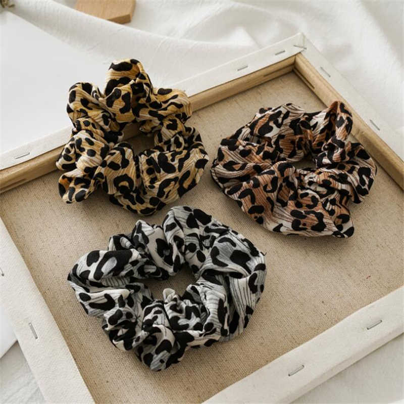 1 PC แฟชั่นเสือดาวรอบ Scrunchies ผมสำหรับหญิงแหวนยางอุปกรณ์เสริมผม Headwear