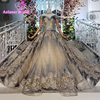 2019 New Arrival Puffy Arabic Long Ball Gown Prom Dresses Vestidos Middle East Women Dubai Fashion Prom Gown For Wedding Party
