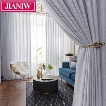 Jianiw рыба Кость Стиль окна тюль шторы для гостиной современная