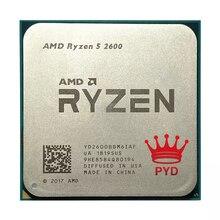 AMD Ryzen 5 CPU 프로세서, 2600, R5 2600, 3.4 GHz, 6 코어, 12 코어, 65W, YD2600BBM6IAF 소켓 AM4