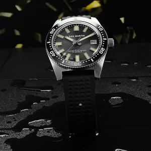 Image 2 - 62MAS גברים אוטומטי שעון נירוסטה שעון צלילה 200m מים עמיד קרמיקה לוח סן מרטין אופנה שעוני יד NH35