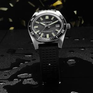 Image 2 - 62MAS Men Automatic Watch Stainless Steel Diving Watch 200m Water Resistant Ceramics Bezel San Martin Fashion Wristwatch NH35