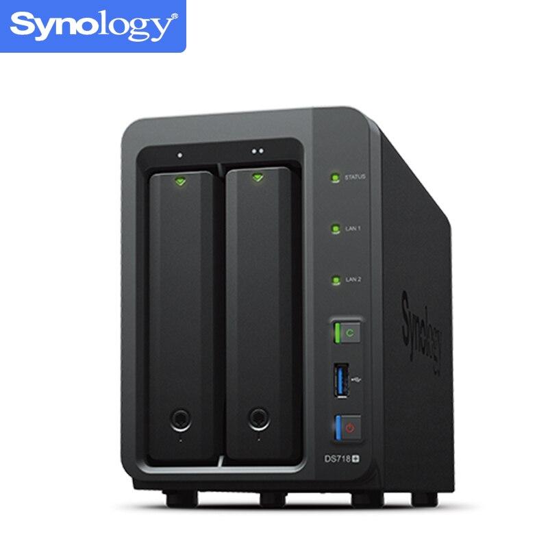 NAS Synology Disk Station DS718 + 2-bay diskless nas server nfs netzwerk storage-cloud-storage, 2 jahre garantie