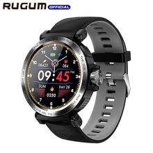 Tam dokunmatik ekran spor monitör saat egzersiz kalp atışı takip cihazı SmartWatch su geçirmez IP68 RUGUM S18 akıllı saat erkekler kadınlar için