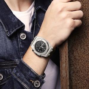 Image 5 - ONOLA di marca del quarzo di modo casuale mens orologio cronografo orologio da polso Multifunzione tutto in metallo oro nero orologio da polso impermeabile per gli uomini