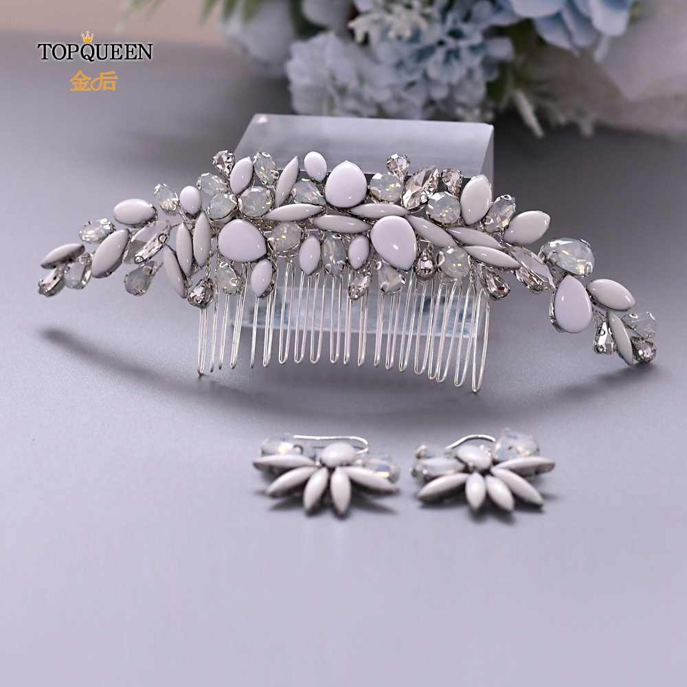 TOPQUEEN HP270 Bridal Hair Comb Wedding Crystal Comb Wedding Comb Set Wedding Hair Comb Crystal Rhinestone Hair Bridal Comb