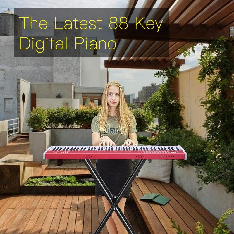 Piano de clavier de contrôleur électronique numérique usb MIDI professionnel de haute qualité 88 touches pour piano d'apprentissage musical biginner band