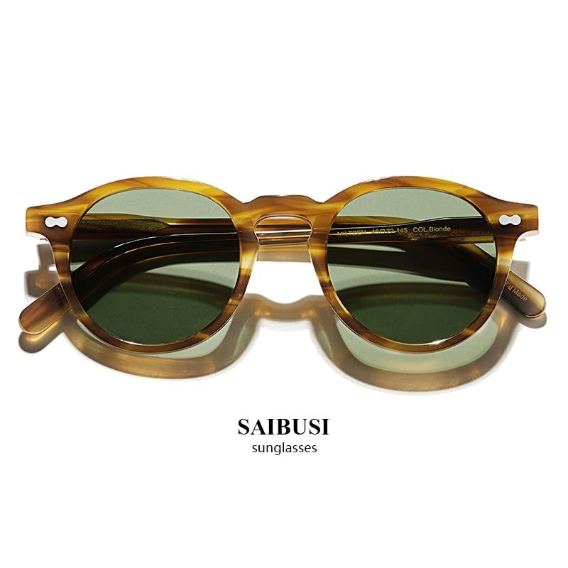 2020 Vintage Polarized Sunglasses Men Classical retro Brand Designer outdoor Driving Round acetate Sun Glasses woman|Men's Sunglasses| - AliExpress