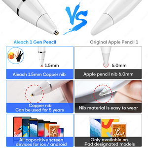 Active Stylus Touch Pen For Apple iPad Pro 11 12.9 10.5 9.7 miini 5 Air Smart Capacitance Pencil For iPhone Huawei Xiaomi Tablet