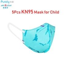 Máscara infantil pm2.5, puramente crianças, máscara de proteção antiembaçante pm2.5, respirável, máscara facial para meninos meninas de youpin