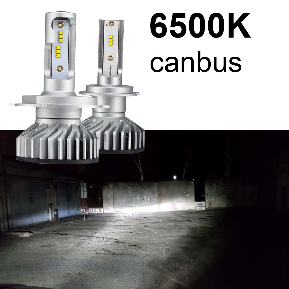 Uttril H4 H7 зэс canbus светодиодный фар H1 H3 H8 H9 H11 9005 9006 9012 Авто противотуманных фар автомобиля светодиодный лампы 12V 4300K 6500K 5000K
