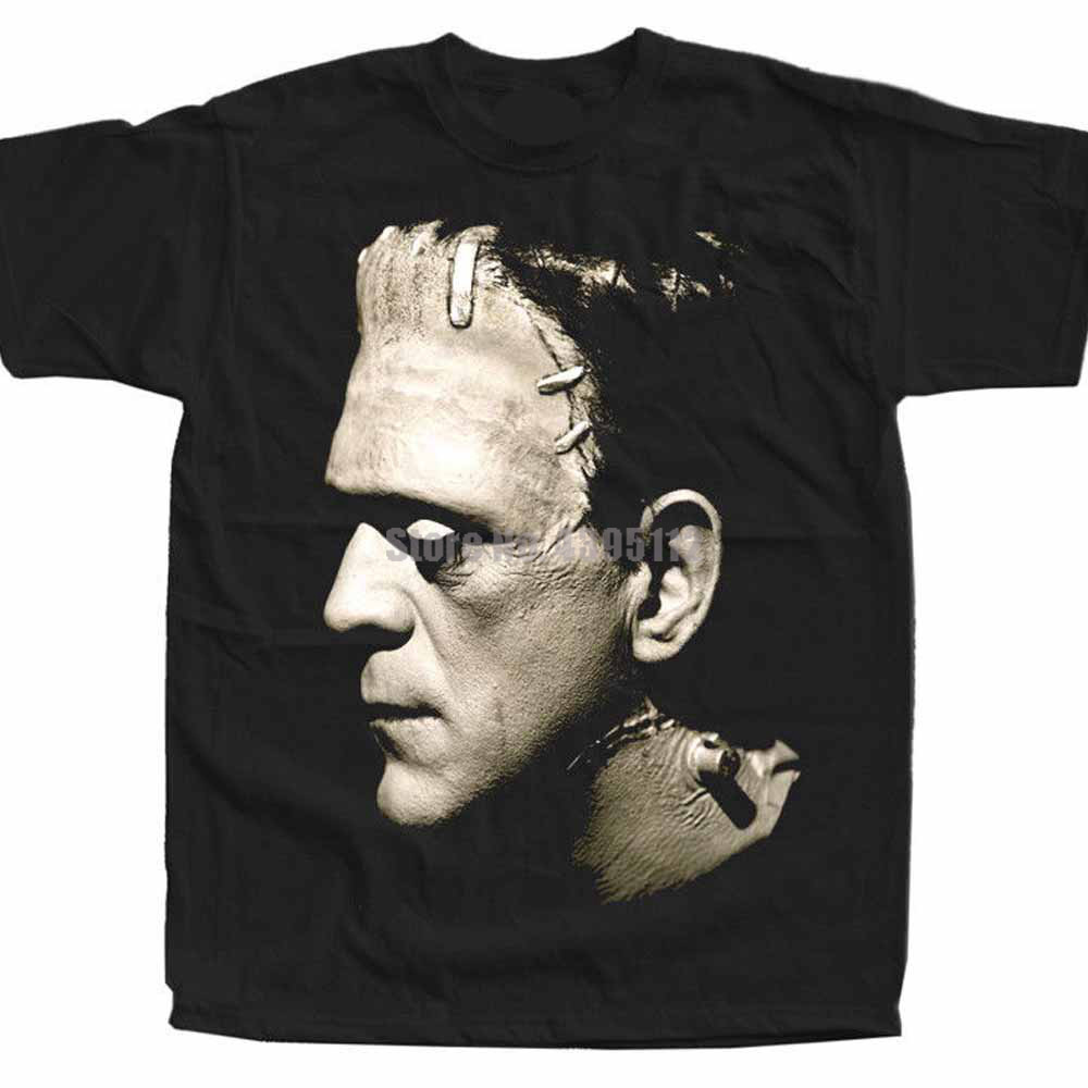 Frankenstein Movie Poster Men'S Personalized Shirt Loki T-Shirts Motorcycle Shirt Oversize Shirts Summer Tops Pcvcbo image