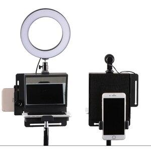 Image 4 - Mini Teleprompter Di Động Inscriber Di Động Teleprompter Hiện Vật Video Cho Samsung iPhone Và Máy Ảnh DSLR Ghi Âm VS Bestview T1
