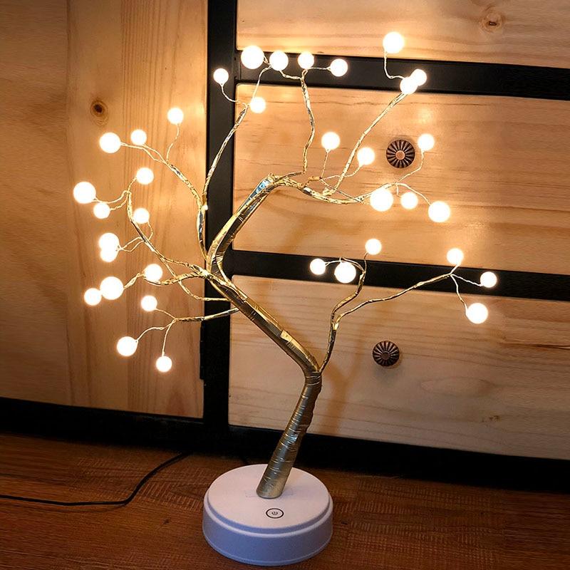 108 LED Flower Tree Light Desktop Night Light DIY Bonsai Lamp Fairy Lights Decor