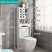 Practical Toilet Storage Space Saver Towel Rack Shelf Modern Bathroom Cabinet Home Furniture Waterproof & Easy To Clean