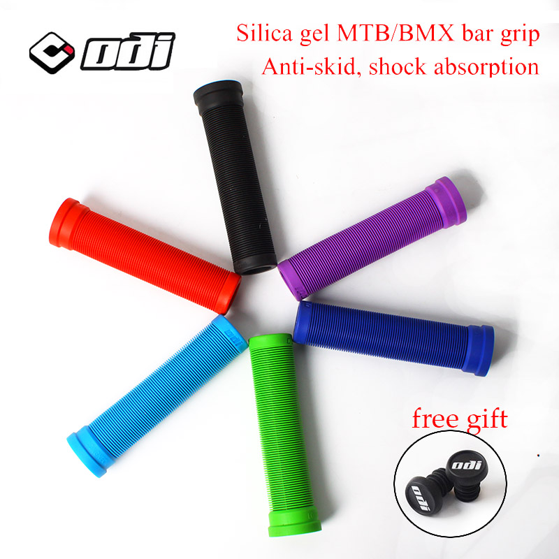 ODI BMX Bike Handle Bar Grips Shockproof Soft Silicone Bicycle HandleBar Grips End Wear-resistant Bicycle Parts