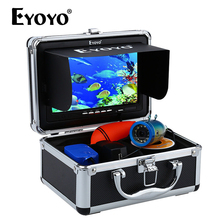 """Eyoyo 30м 1000TVL подводная камера для рыбалки """" монитор эхолот для рыбалки на русском языке солнцезащитный козырек инфракрасный светодиод искатель рыбы зимняя рыбалка"""