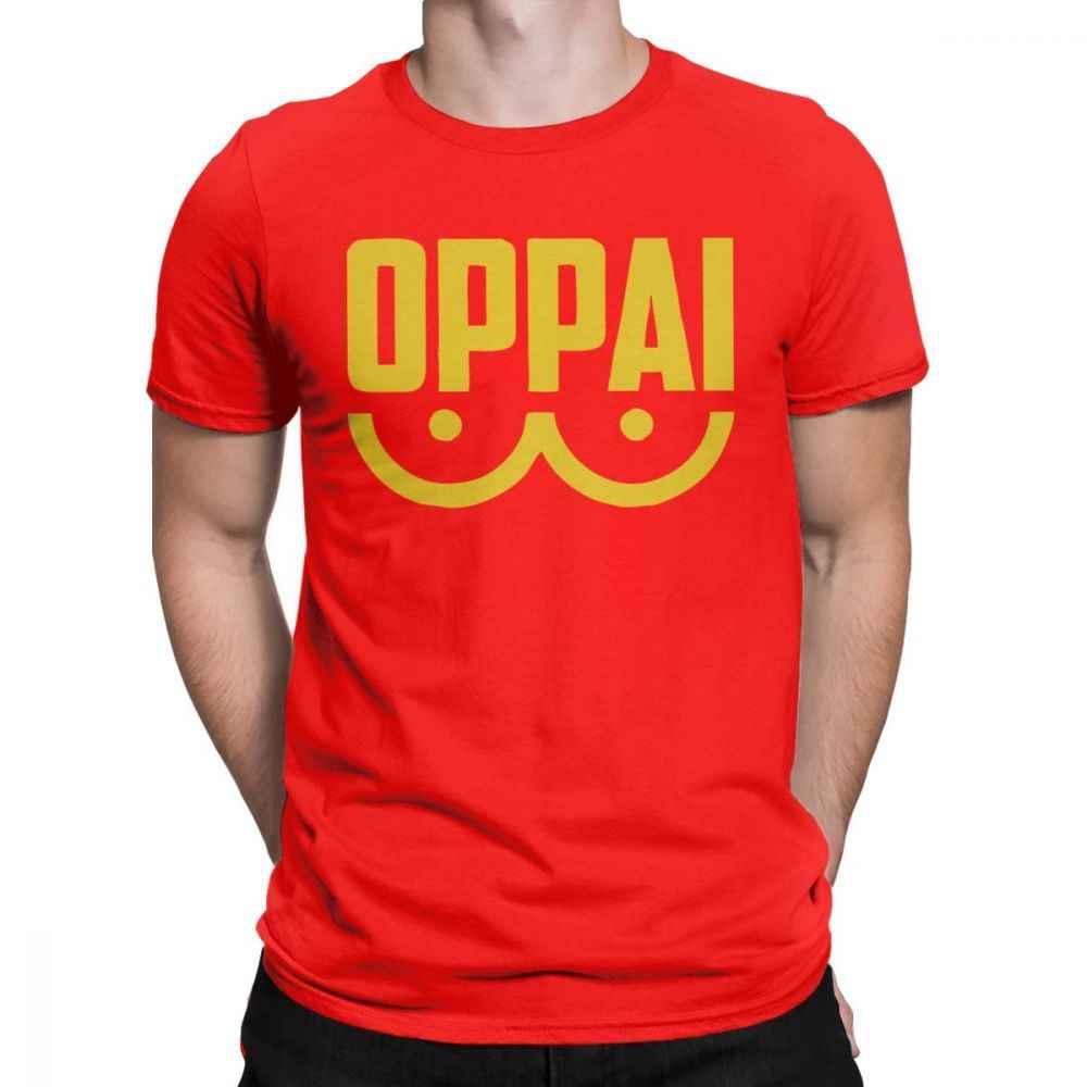 One Punch Man t-shirty OPPAI Tshirt japonia Anime Saitama Sensei śmieszne koszulki mężczyźni najwyższej jakości bawełna koszulki z krótkim rękawem lato topy