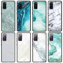 Caso de telefone de mármore para samsung s20 fe 5g s20 s10 s9 s8 mais s7 borda s10lite s20ultra macio capa traseira concha coque