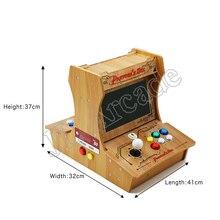 Pandora Box 6 di plastica bartop 2 giocatori mini macchina della galleria 10 pollici dual screen Doppio gioco di combattimento console arcade 3d gioco
