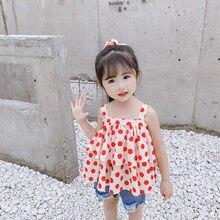 Faldas de lunares para niñas, vestidos bonitos sin mangas, tirantes, ropa para niños, novedad de verano 2021
