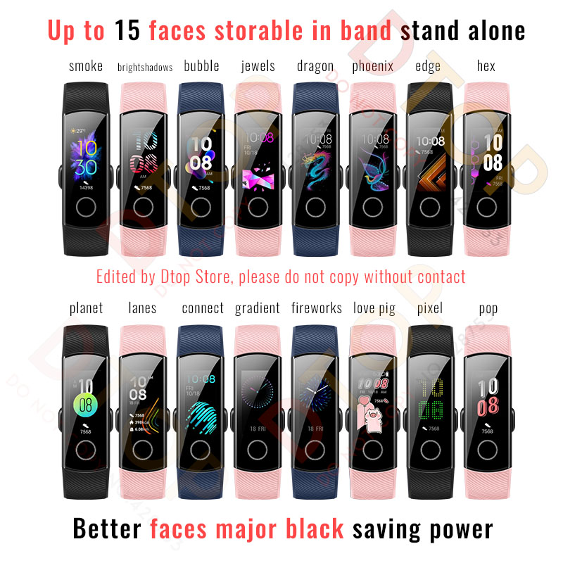 Original Huawei Honor Band 5 Smart Wristband Oximeter Magic Color Touch Screen Swim Stroke Detect Heart Original Huawei Honor Band 5 Smart Wristband Oximeter Magic Color Touch Screen Swim Stroke Detect Heart Rate Sleep Nap
