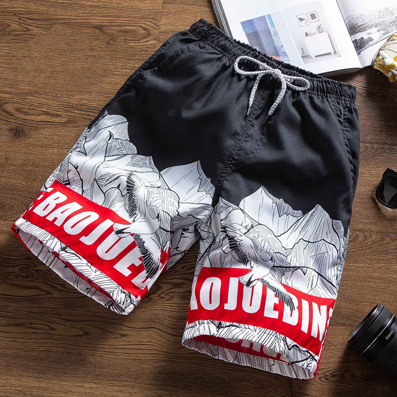 Men Beach Shorts Printed Casual Loose Sports Surffing Shorts Summer Swim Trunks Beachwear Plus Size M-4XL