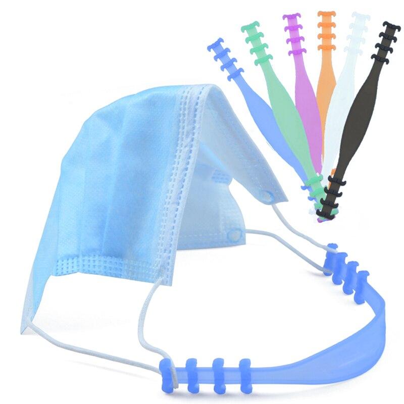 10pcs Universal Non Slip Extension Buckle Mask Hook Elastic Adjustment Belt Adjustable Mask Extension Buckle