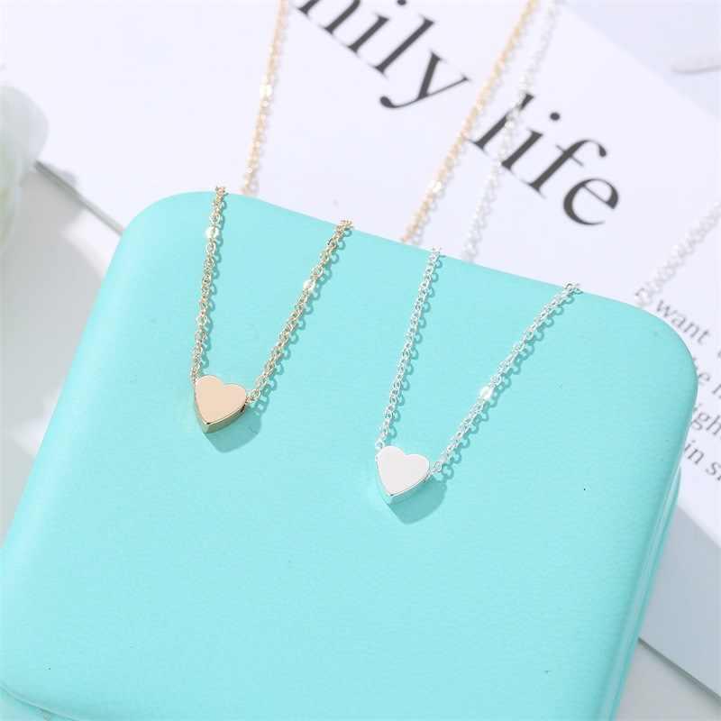 ZYZQ Mudah Sederhana Kalung untuk Gadis dengan Indah Lucu Berbentuk Hati Liontin Tahun Baru Hadiah Kejutan Perhiasan Grosir Banyak & Massal