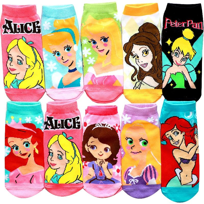 Princess Mermaid Kids Socks Spring Summer Cotton Boys Girls Socks 3D Print Cute Cartoon Children  Kids Girls Funny Socks