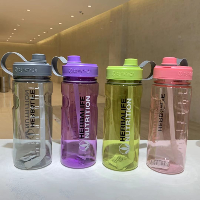 Herbalife Water Bottle Water Bottle Straw Cup1000ML,2000ML Sports Fitness Large Capacity Water Cup Water Bottle image
