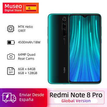 Küresel sürüm Xiaomi Redmi not 8 Pro 64GB / 128GB ROM 64MP dörtlü kamera MTK Helio G90T Smartphone 4500mAh 18W QC 3.0 UFS 2.1