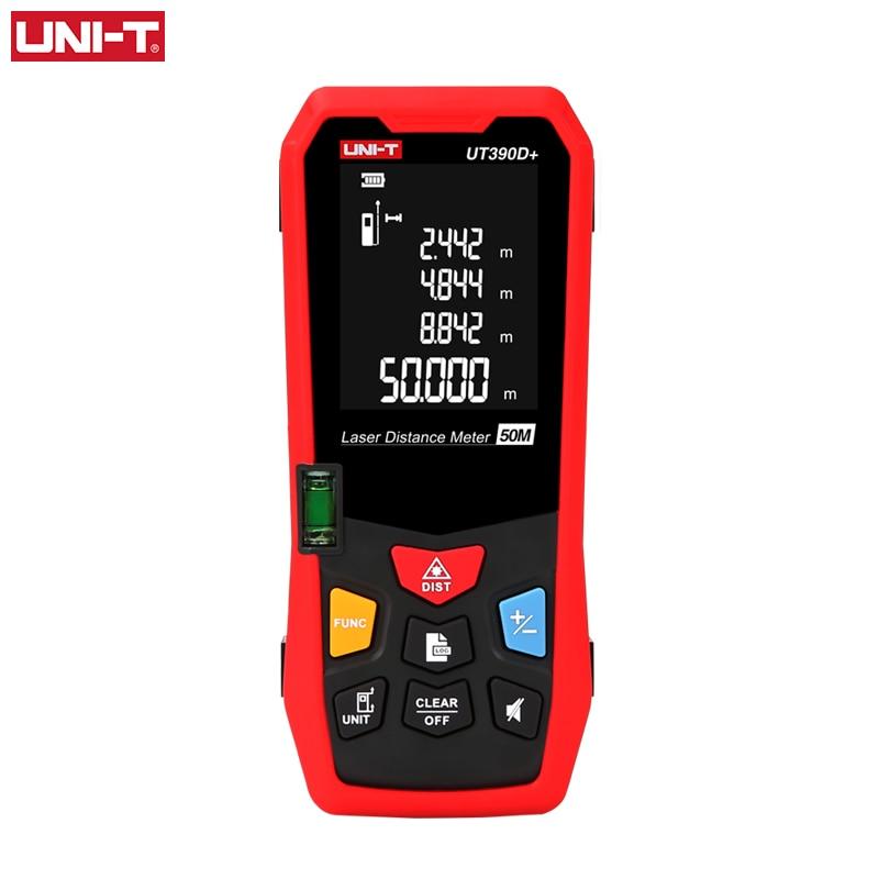 UNI-T digital medidor de distância a laser 50m ut390d + fita faixa finder fita medida construir medição a laser distância régua eletrônica