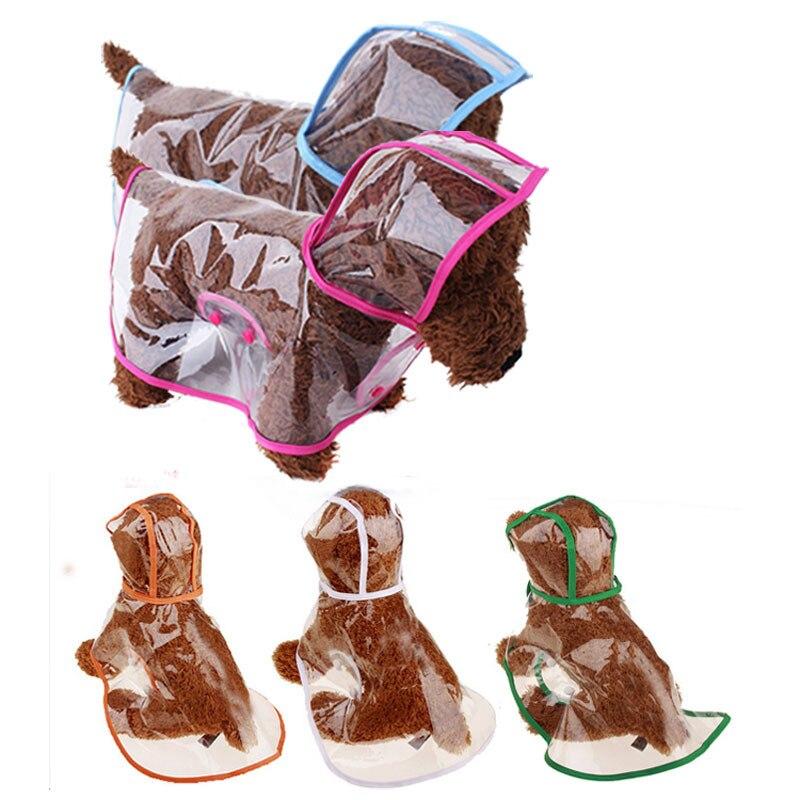 Fashion Dog Raincoat Cats Pet Transparent Rain Coat Hoody Waterproof Pets Outdoor PVC Raincoats Small Dogs Clothing XS-2XL
