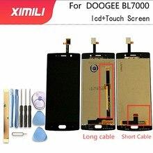 5.5 นิ้วสำหรับ Doogee BL7000 จอแสดงผล LCD + หน้าจอสัมผัส 100% ทดสอบ Digitizer BL 7000 + ฟรีเครื่องมือ