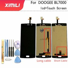5.5 cal dla Doogee BL7000 wyświetlacz LCD + ekran dotykowy 100% testowany ekran wymiana Digitizer zgromadzenie bl 7000 darmowe narzędzia