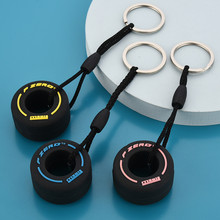 2021 New Fashion Simulation Cartoon Small Tire Keychain Creative Unisex Car Bag Key Ring Pendant Gift For Car Lovers
