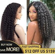 30 Polegada kinky encaracolado glueless perucas completas do laço cabelo brasileiro com o cabelo do bebê frete grátis 360 peruca cheia do laço cabelo humano pré arrancado
