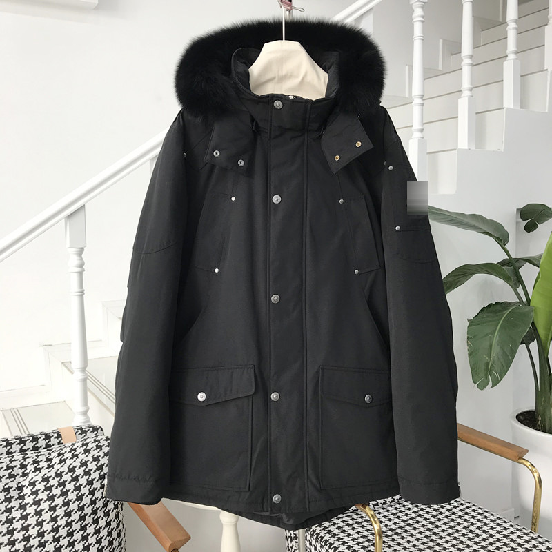 [Original D] Winter Warm Useful Product Thick Down Jacket Hooded Fox Fur LEEPAG Overcome Men's 2356