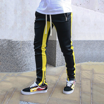Joggers Harem Pants Men Patchwork Side Skinny Pencil Pant Joggers Streetwear Autumn Sweatpants Casual Tights Track Trousers Men
