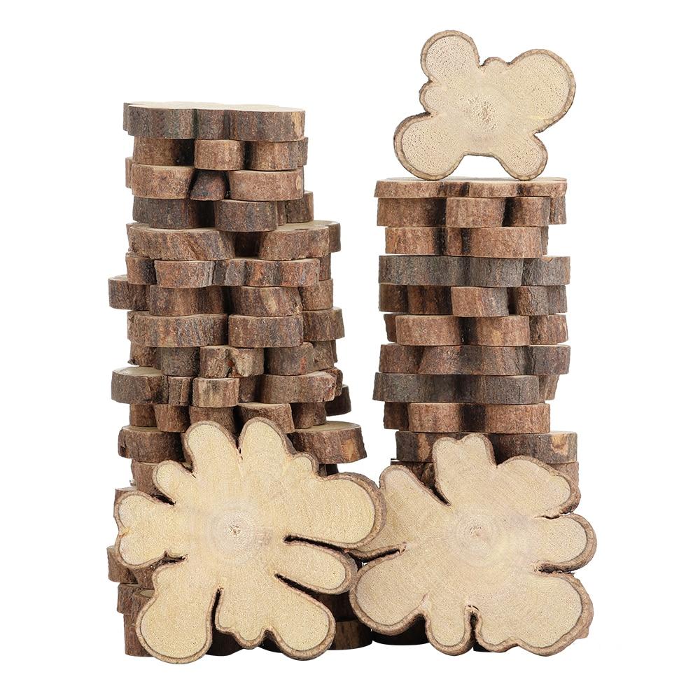 20 шт./упак. на каблуке 3-5 см, Диаметр 0,5 см толщиной в области большого натуральный кусочки дерева с древесной коры материалы для поделок DIY не...