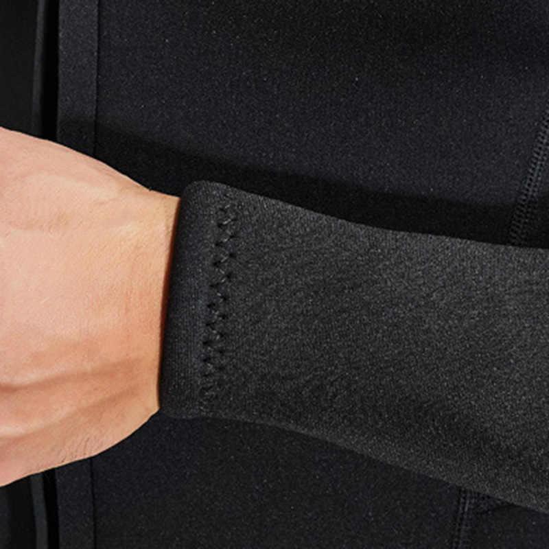 3mm neopren dalgıç kıyafeti erkekler Split tip Wetsuit 2 parça sıcak fermuar uzun kollu üst pantolon dalış dalgıç kıyafeti tam bodysui