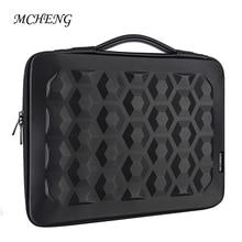 DOMISO 10 13 14 15.6 Laptop Sleeve Bag Hard Shell PU Leather  Portable Shockproof Waterproof Business Zipper Travel Case