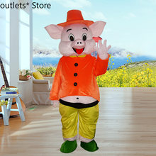 Happy pig cartoon doll costume walking clothes advertising event