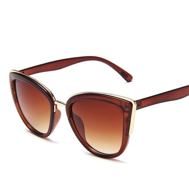 Driver Glasses Women Cat Eye Retro Designer Round Gradient Oversized Glasses Sunglasses Metal Frame Sunglasses Driver Goggles 6