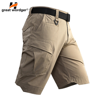 Summer Army Combat Military Tactical Shorts Quick Dry Breathable Cargo Shorts Men Thin Flexible Sport Hiking Work Shorts Male