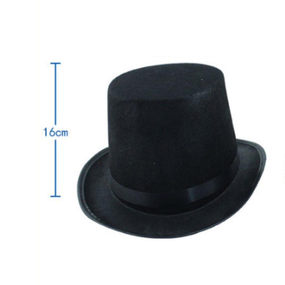 1PC Halloween Magician Magic Felt Top Hat Jazz Cap Masquerade Party Costume Prop