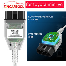 OBD2 Code Scanner V 15.00.028 MINI VCI Interface FÜR TOYOTA TIS Techstream MINI-VCI FT232RL Chip J2534 OBD2 Diagnose Kabel